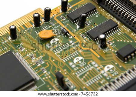 Piece of computer board - stock photo