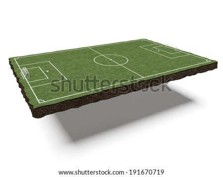 piece of land with a football field
