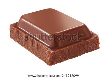 piece of milk chocolate - stock photo