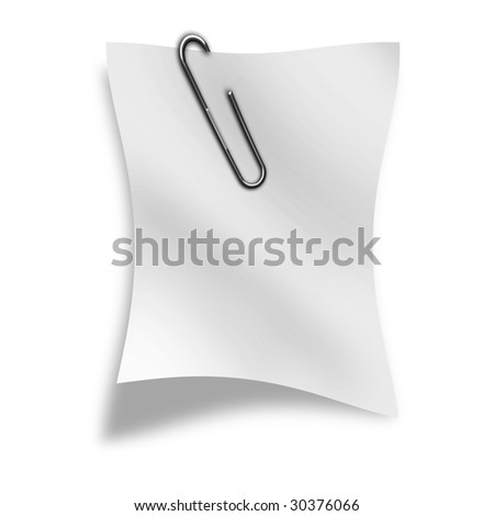 piece of paper on a white background