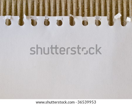 piece of paper on cardboard - stock photo