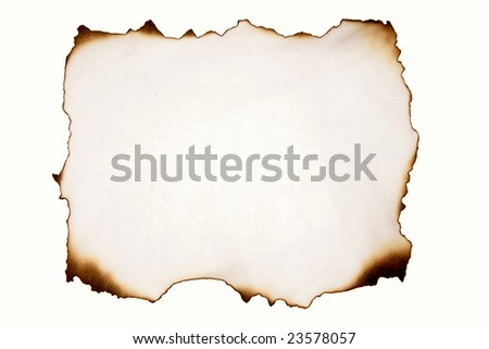 Piece of paper on white