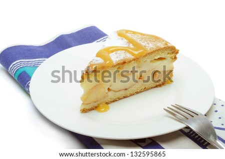 Piece of Pie on the white Plate