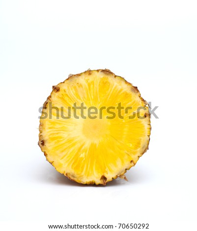 piece of pineapple isolated
