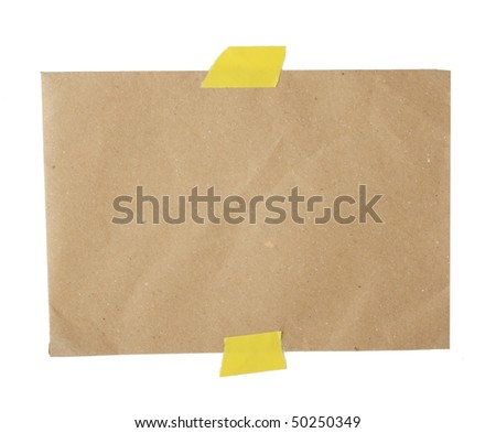 Piece of recycled paper - Insert text here - stock photo