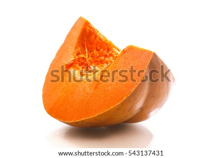 piece of ripe pumpkin