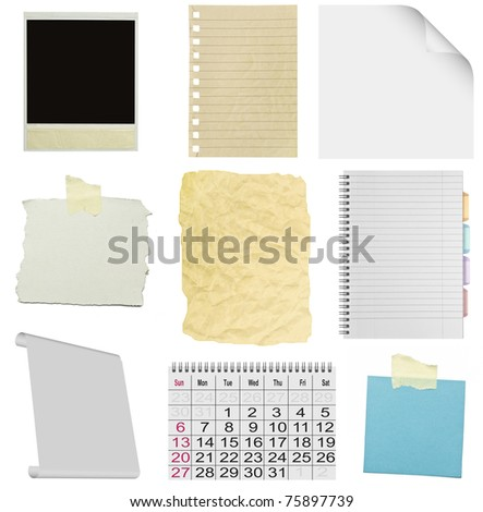 piece of sheet on a white background - stock photo
