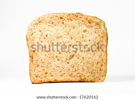 Piece of sunflower seed toast bread Close-up - stock photo