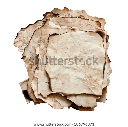 piece of vintage paper - stock photo
