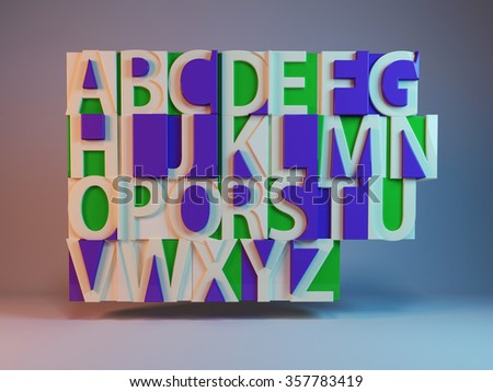 pieced alphabet