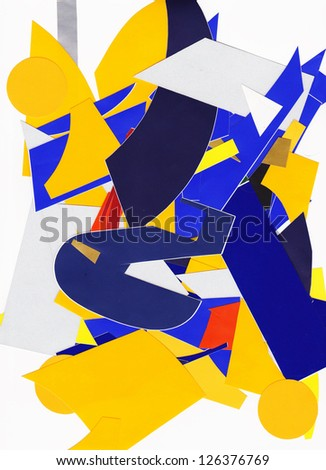 Pieces of colorful paper - stock photo