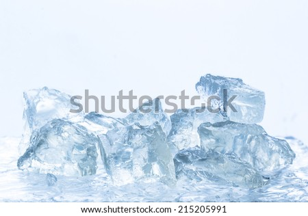 pieces of crushed ice - stock photo