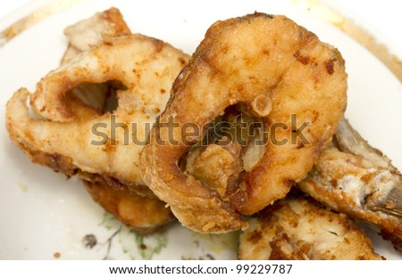 pieces of fried fish