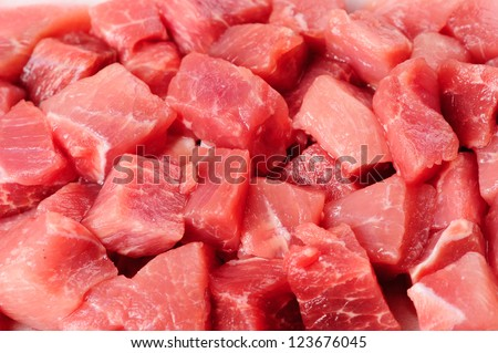 pieces of meat - stock photo