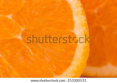 pieces of orange  background close-up