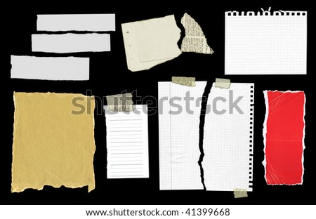 Pieces of paper - stock photo
