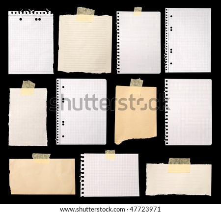 Pieces of paper ready for making notes - stock photo
