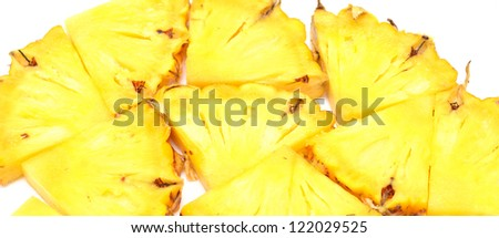 pieces of pineapple on white