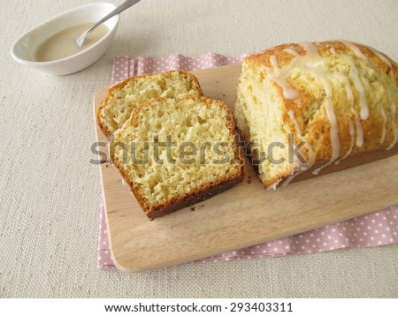 Pieces of sponge cake - stock photo