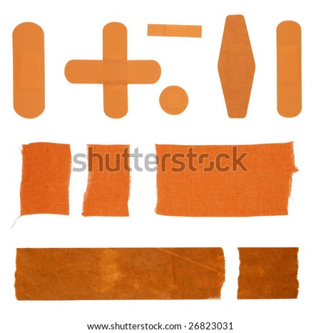 Pieces of sticky tape - stock photo