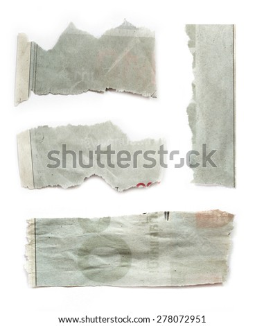 Pieces of torn black paper on plain background. Copy space - stock photo