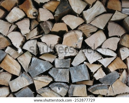 pieces of wood / firewood - stock photo