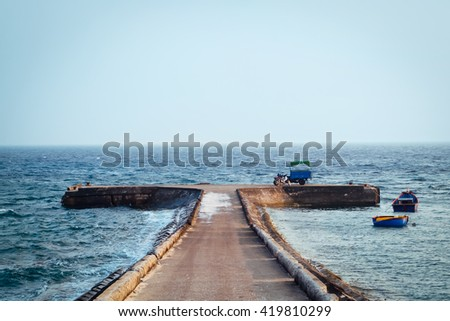 Pier at An Binh Island, Ly Son, Quang Ngai Province, Vietnam