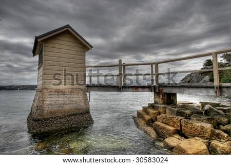 Pier at Watson Bay in Sydney - stock photo