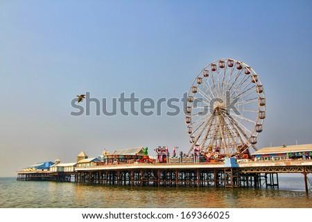 Pier in Blackpool - stock photo