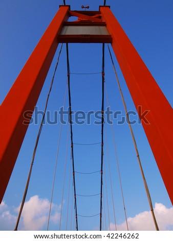Pier of drawbridge - stock photo