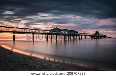 Pier of Seaside Resort Heringsdorf, Baltic Sea, Mecklenburg-Western Pomerania, Germany