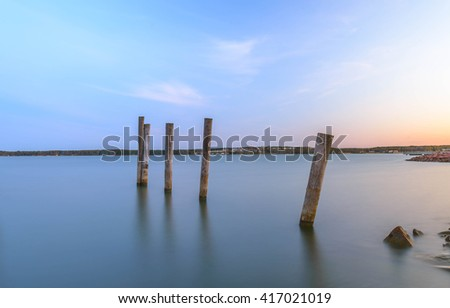 pier on the Baltic Sea island of Aland, Finland - stock photo