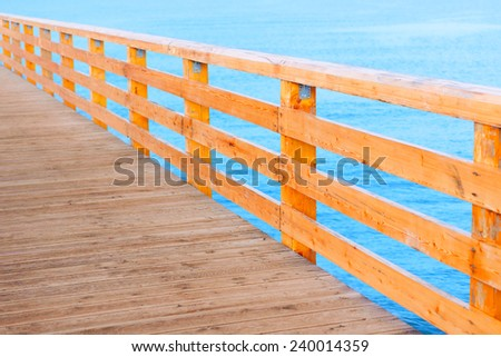 pier wooden baltic sea promenade abstract background - stock photo