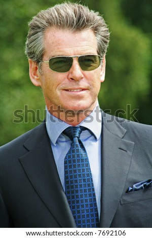 Pierce Brosnan at the Cartier International Polo Day at the Guards Polo Club in Windsor- 29 July 2007 - stock photo