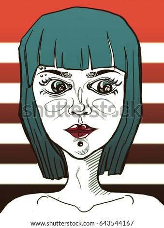 stock-photo-pierced-girl-illustration-64