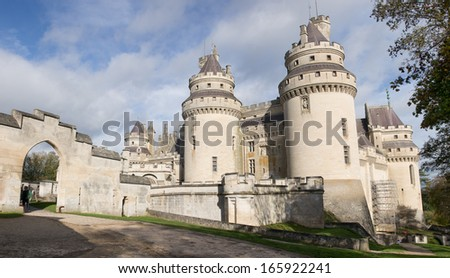 Pierrefonds Castle in the morning, Picardie, France