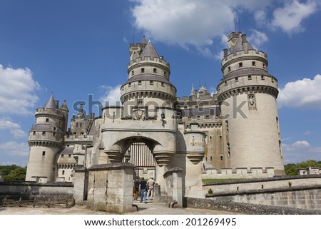Pierrefonds Castle, Picardy, France - stock photo