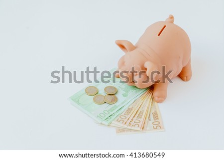 pig bank - stock photo