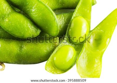 Pigeon pea on white background