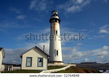 Pigeon Point Lighthouse California Coast - stock photo