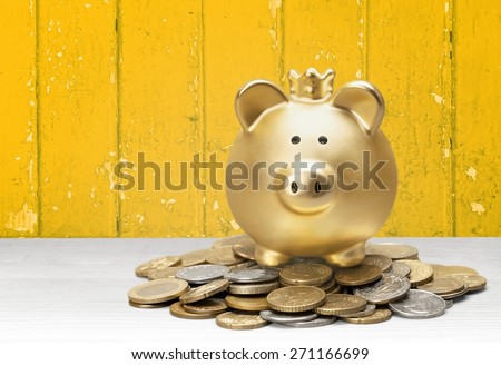 Piggy Bank, Cheap, Making Money. - stock photo