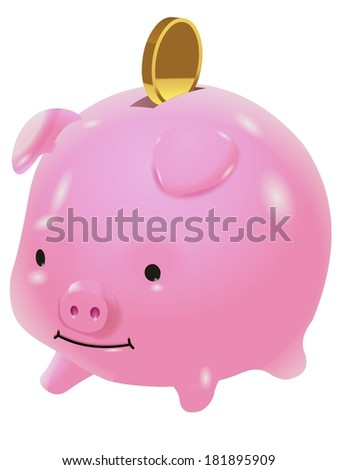 piggy bank coin illustration