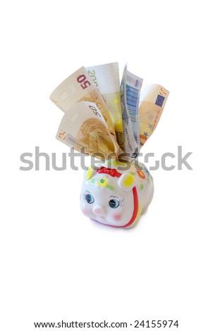 piggy bank for euro - stock photo