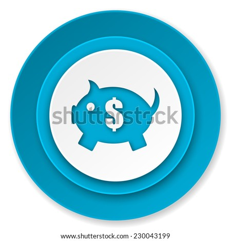 piggy bank icon  - stock photo