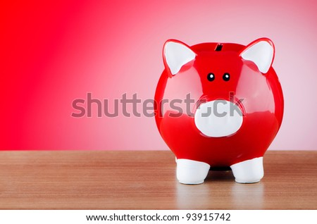 Piggy bank in business concept - stock photo