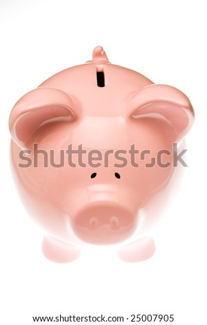 Piggy bank isolated against white background