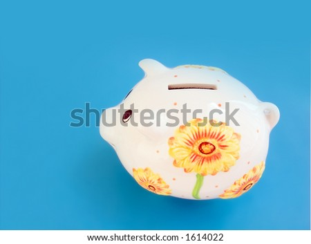 Piggy bank (monebox) isolated - stock photo