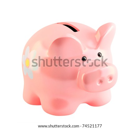 Piggy bank. Object isolated over white