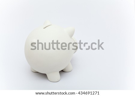 piggy bank on the white background, piggy bank isolation, saving