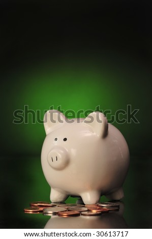 Piggy Bank ready for your type to be added to background,